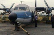هواپیمای قدیمی وارد پارک موزه ساحلی نفت در آبادان شد