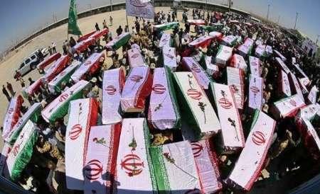 استقبال مردم آبادان و خرمشهر از پیکر پاک 44 شهید